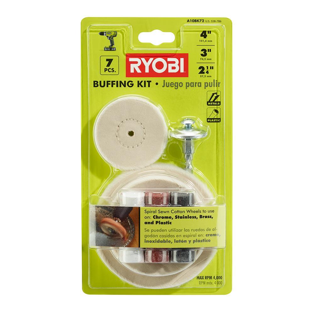 RYOBI Metal Buffing 7 Piece Set