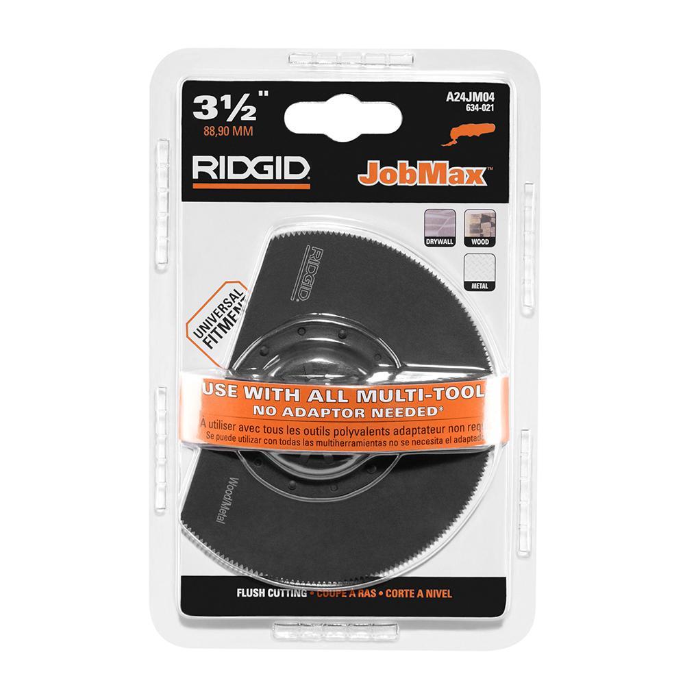 RIDGID JobMax 3-1/2 In. Steel Flush Cut Blade