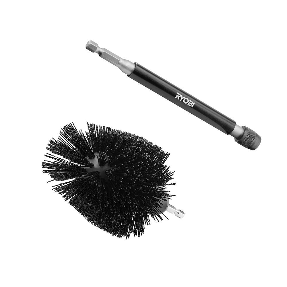 RYOBI Abrasive Bristle Brush Cleaning Kit with Extension (2-Piece)
