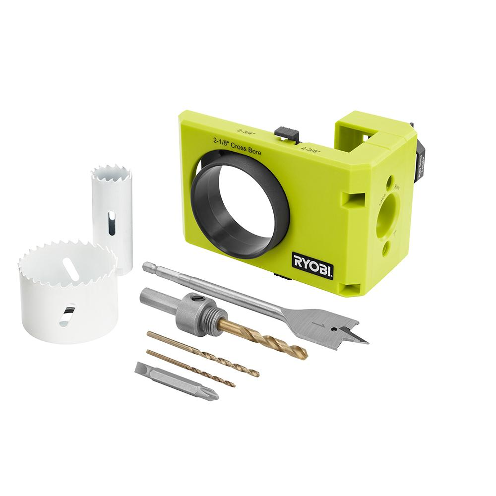 RYOBI Wood/Metal Door Lock Installation Kit