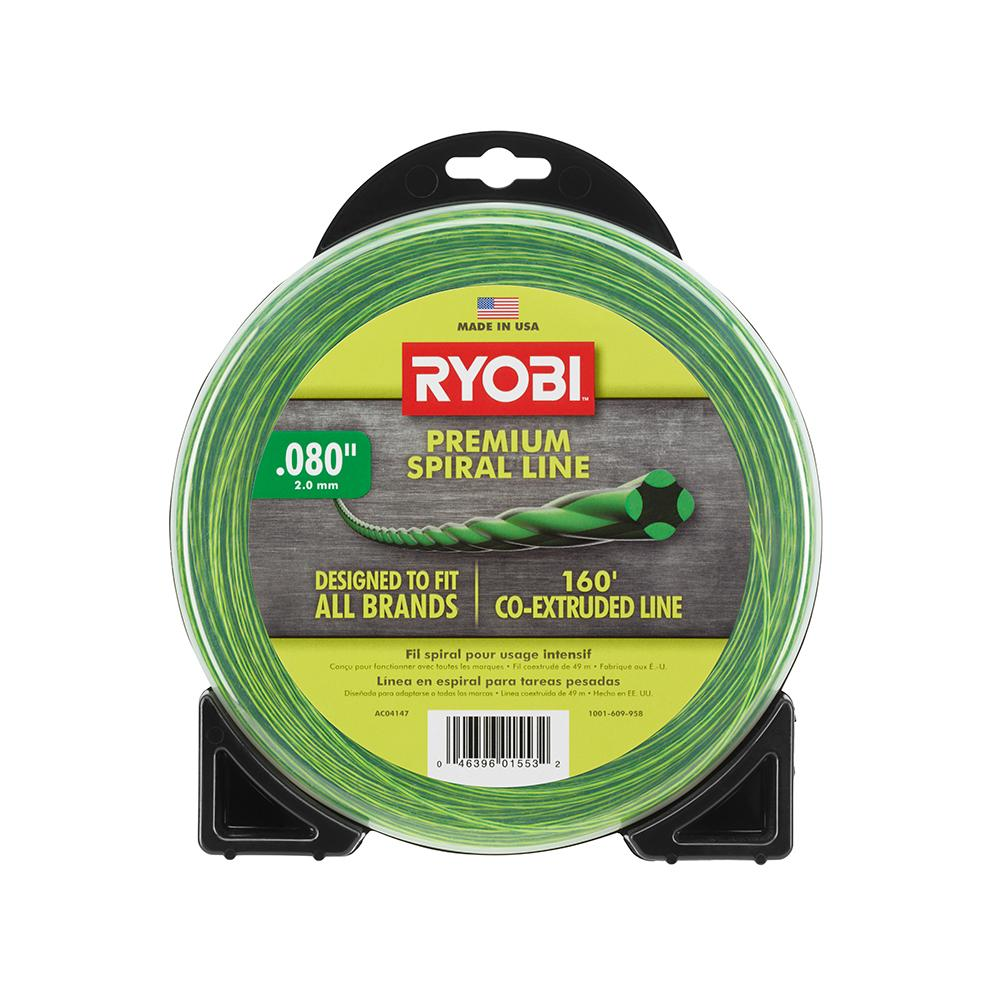 RYOBI .080 In. X 160 Ft. Spiral Co-Extruded Trimmer Line