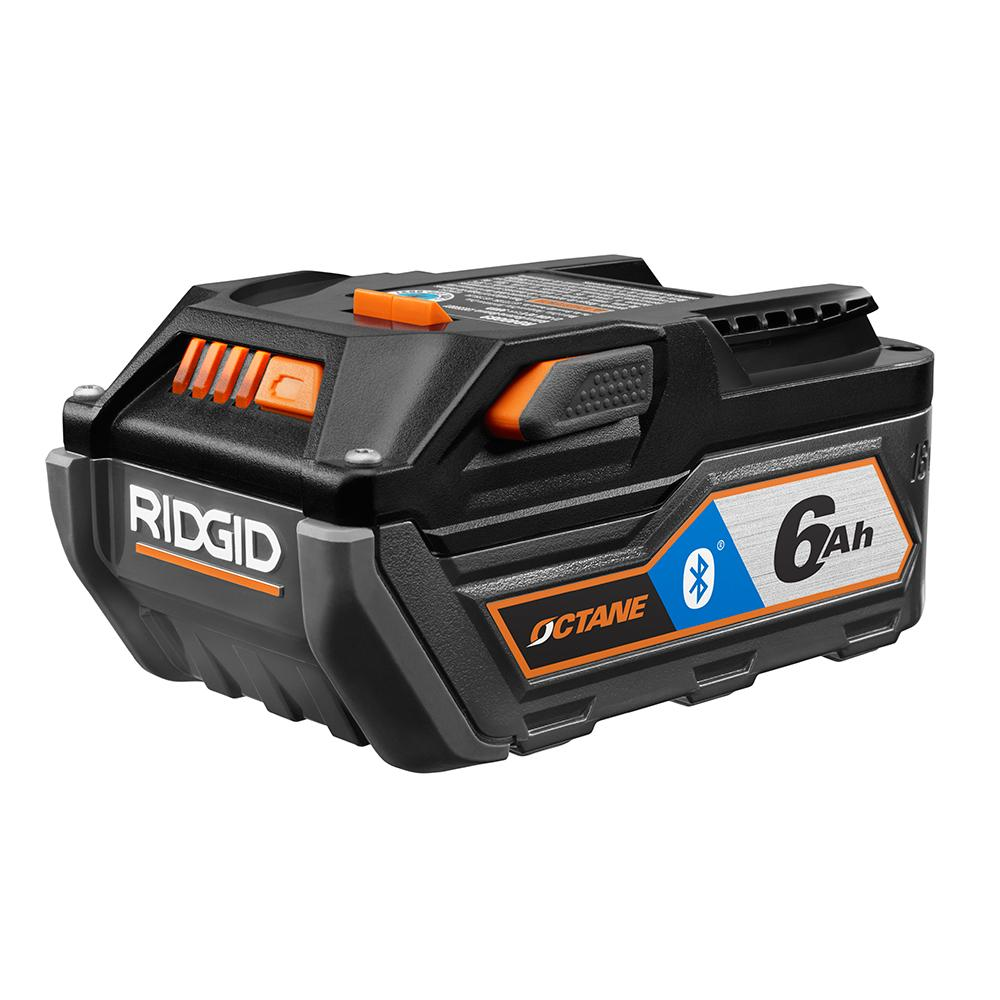 RIDGID 18 Volt OCTANE Bluetooth 6.0 Ah High Capacity Battery