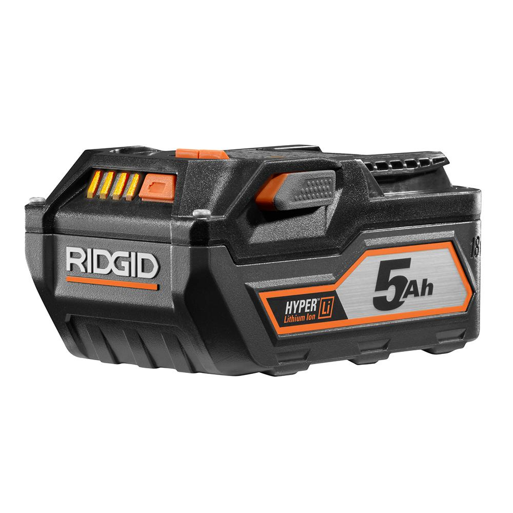 RIDGID 18 Volt HYPER Lithium-Ion High Capacity 5.0Ah Battery Pack