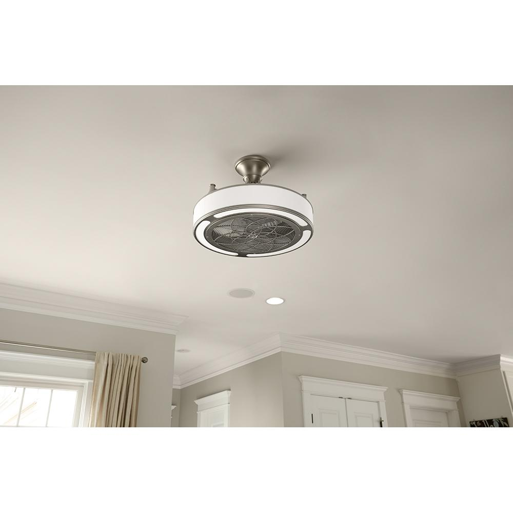 STILE 22 In. Indoor/Outdoor Brushed Nickel Light and Ceiling Fan