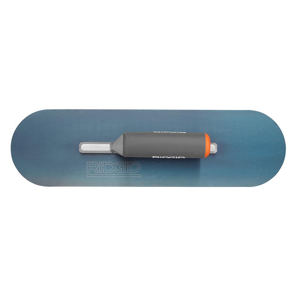RIDGID 16 In. X 4-1/2 In. Blue Steel Pool Trowel