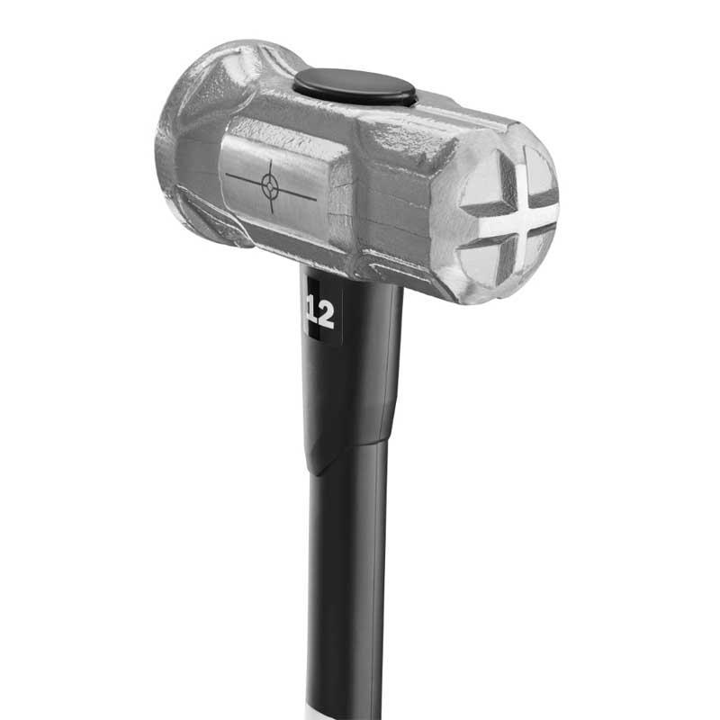HART PowerStrike 12 Lb. Fiberglass Sledge Hammer with SureGrip Overmold