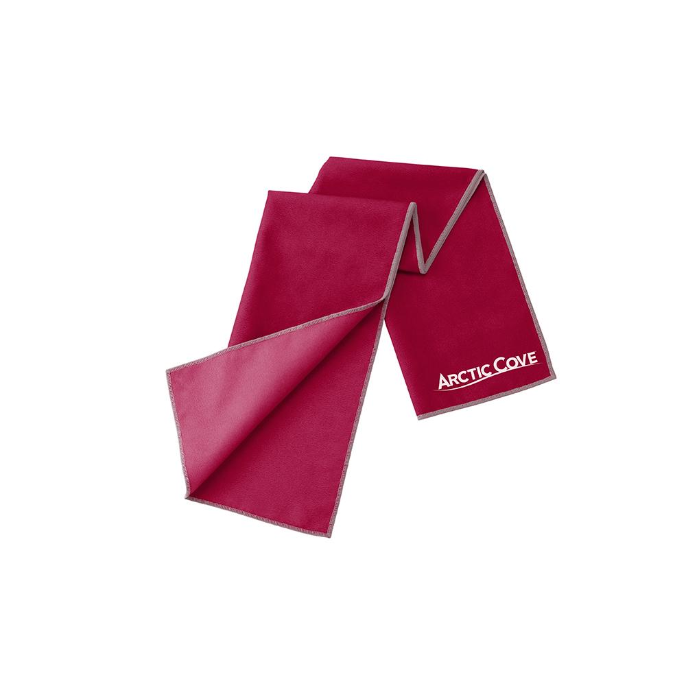 ARCTIC COVE Large Maroon Cooling Towel