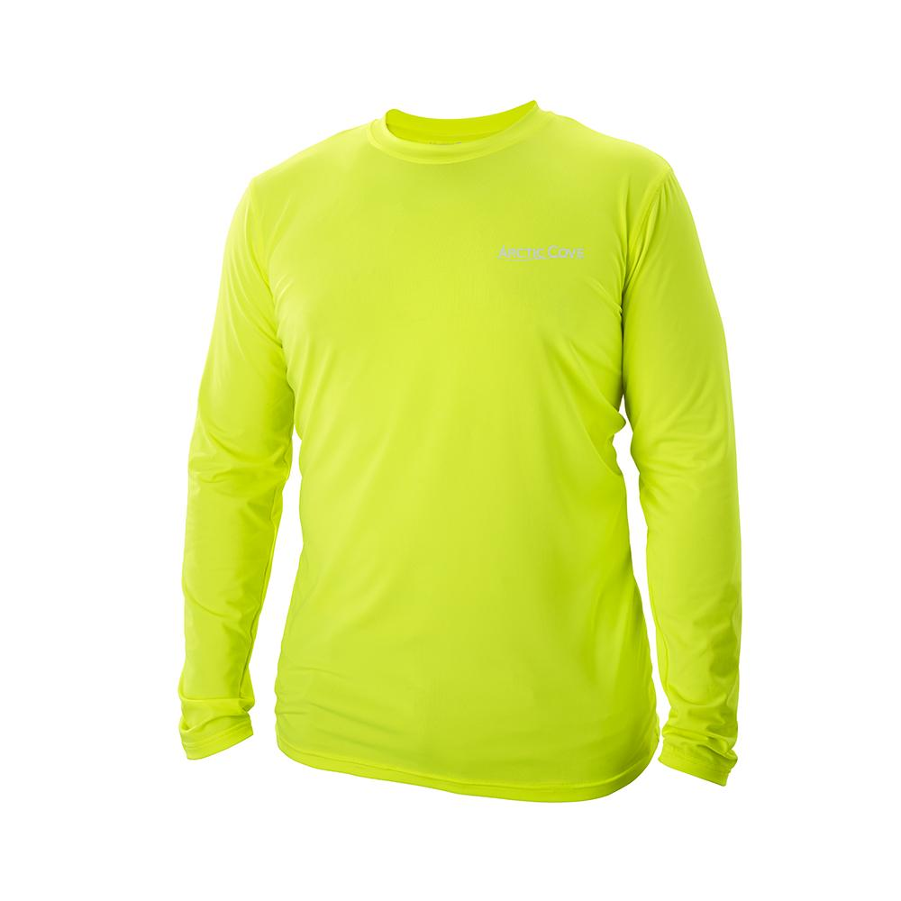ARCTIC COVE Men's Large Long Sleeve Cooling Shirt in Yellow