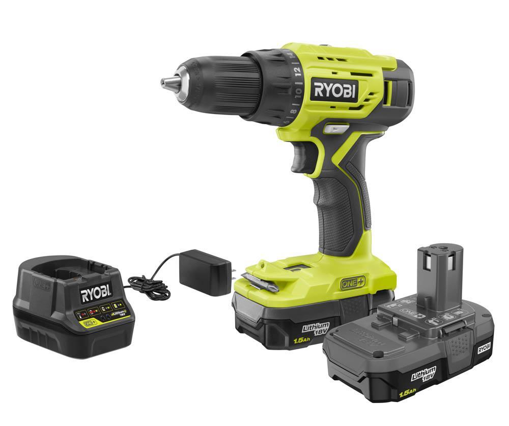 RYOBI 18 Volt ONE+ 1/2 in. Drill/Driver Kit