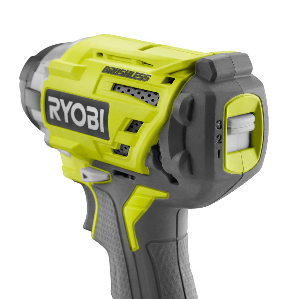 RYOBI ONE+ 18 Volt 1/4 In. Brushless 3-Speed Impact Driver