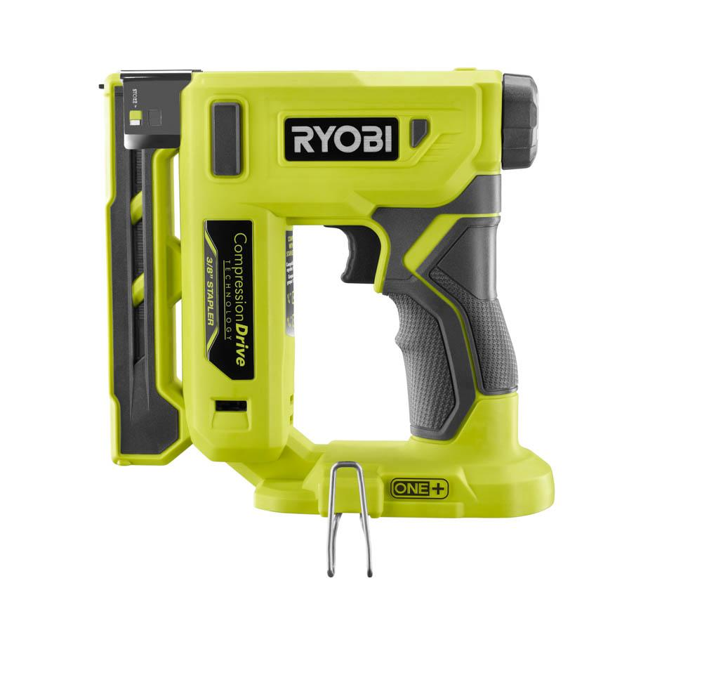 RYOBI ONE+ 18 Volt 3/8 In. Compression Drive Crown Stapler