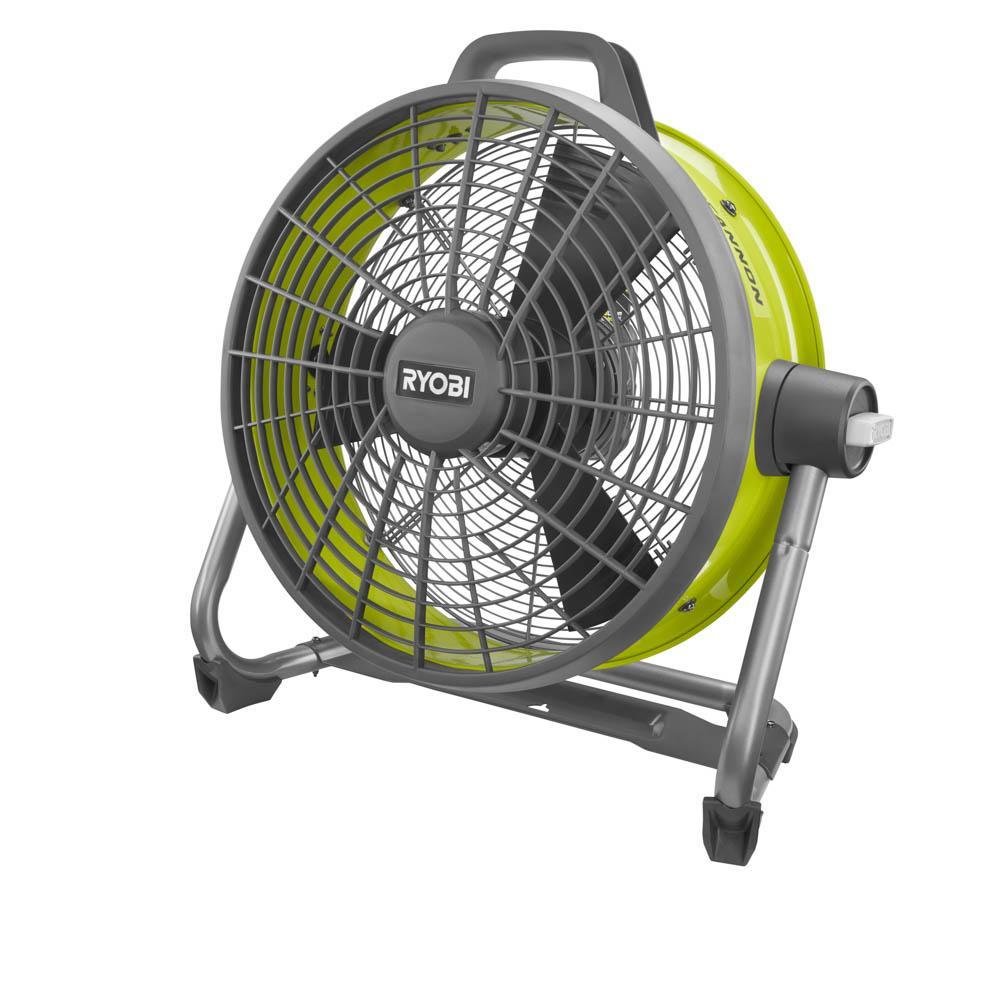 RYOBI ONE+ 18 Volt Hybrid 18 In. Air Cannon Drum Fan