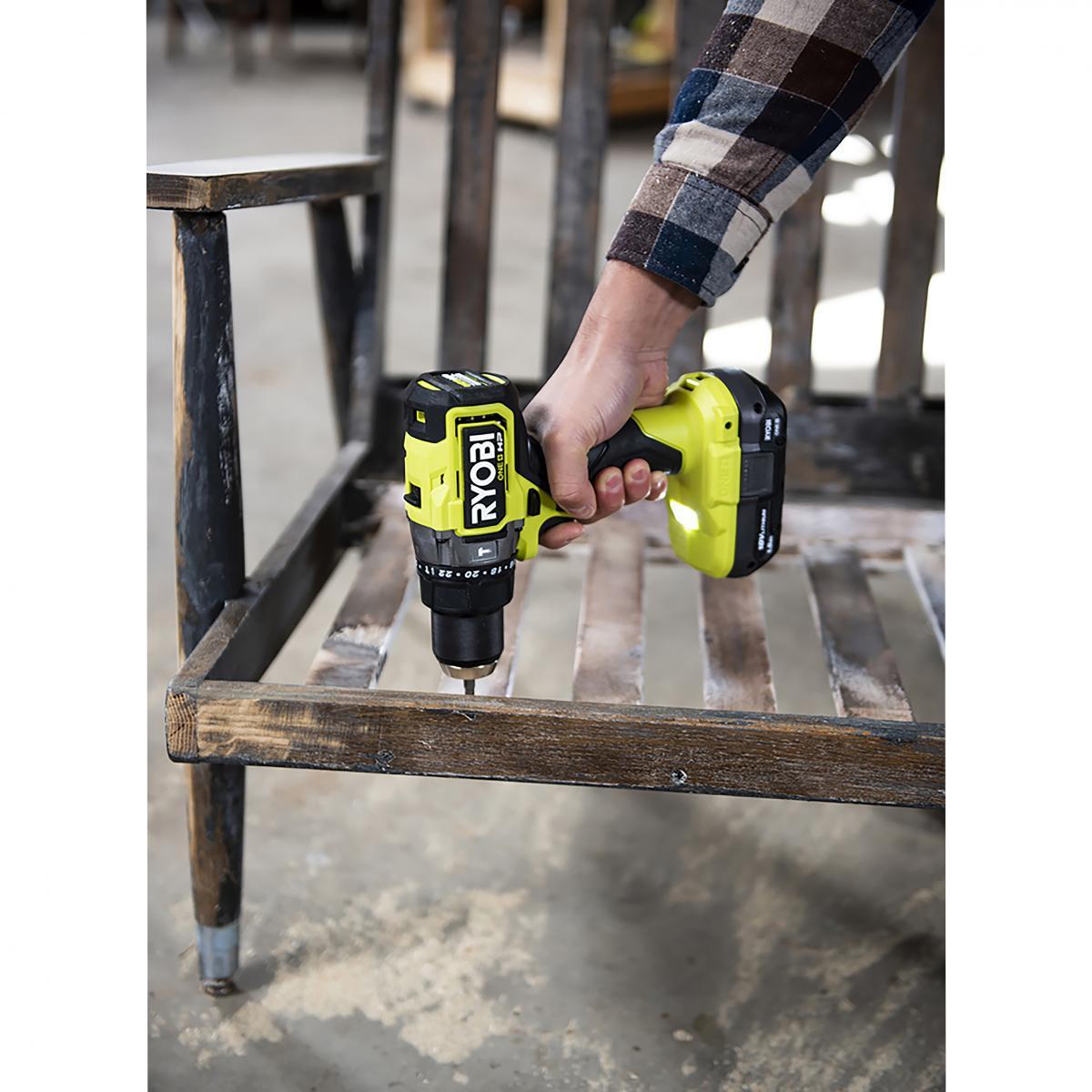 RYOBI 18 Volt ONE+ HP Brushless Cordless 1/2 in. Hammer Drill Kit