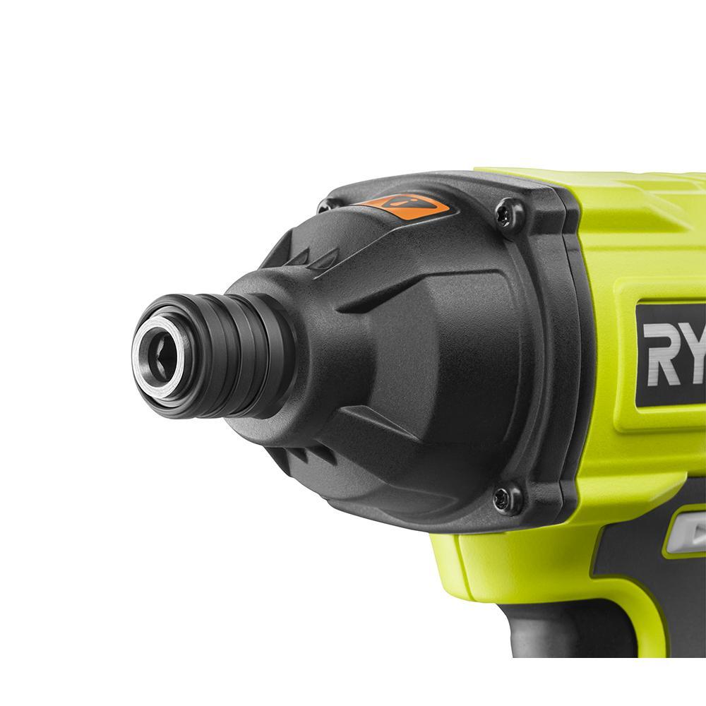 RYOBI ONE+ 18 Volt Cordless 1/4 In. Impact Driver Kit