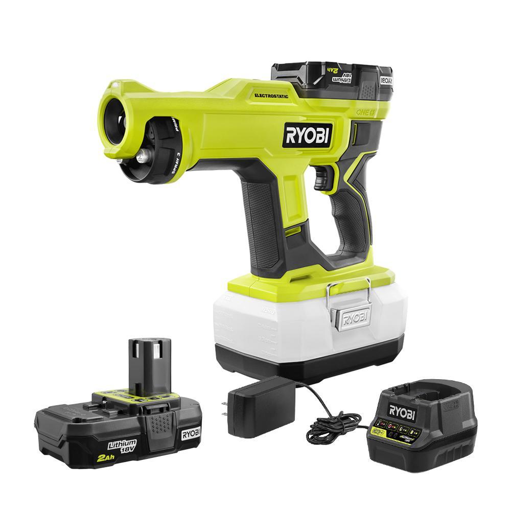 RYOBI ONE+ 18 Volt Cordless Handheld Electrostatic Sprayer Kit