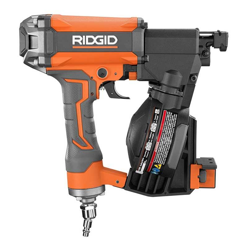 RIDGID Pneumatic 1-3/4 In. 15 Degree Coil Roofing Nailer