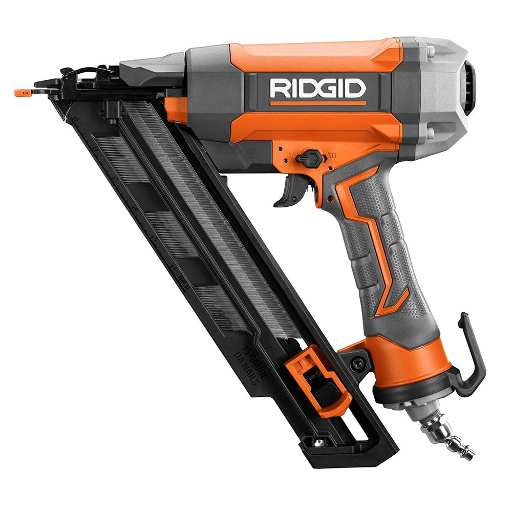RIDGID 15-Gauge 2 1/2 in. Angled Finish Nailer with CLEAN DRIVE Technology