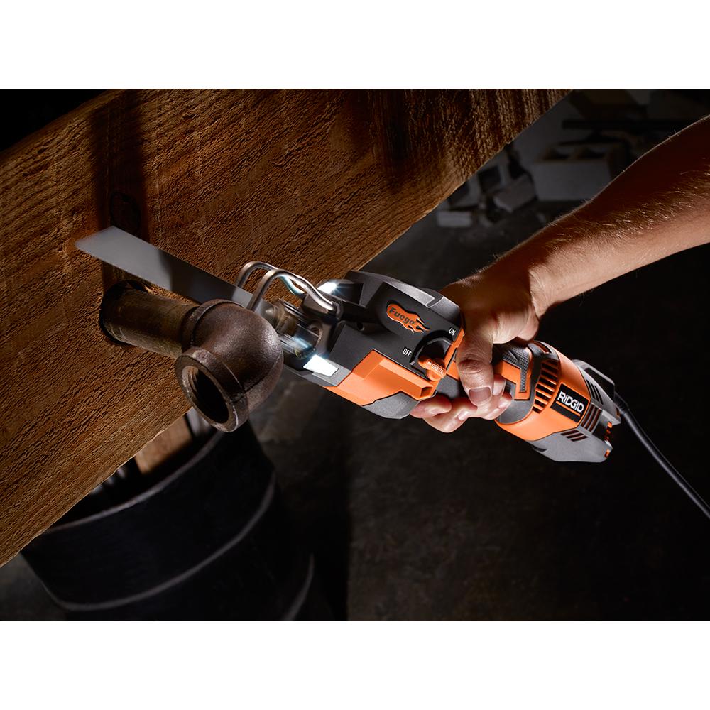 RIDGID Thru Cool 6 Amp 1-Handed Orbital Reciprocating Saw