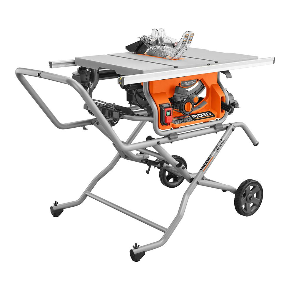 RIDGID 10 In. Pro Jobsite Table Saw with Stand