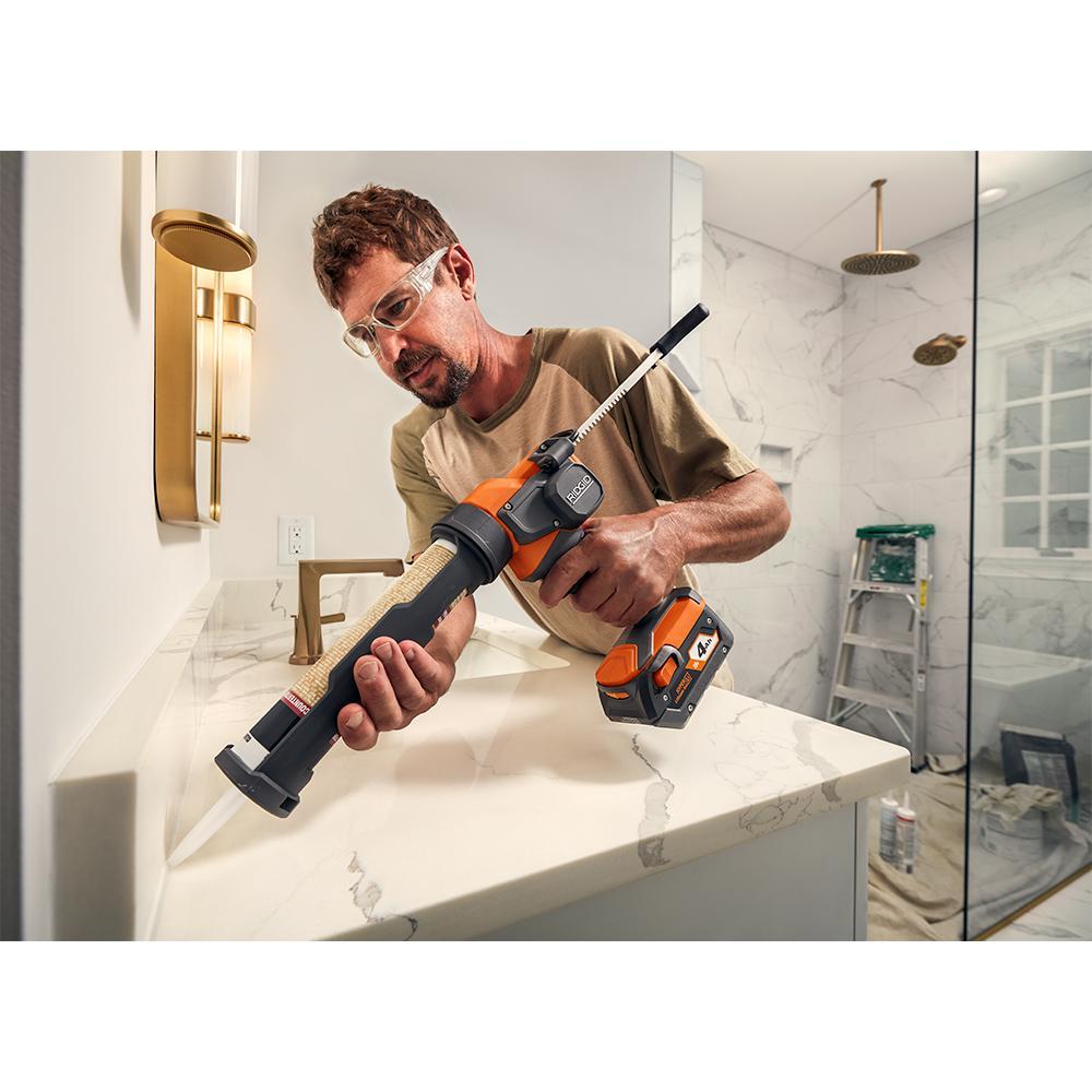RIDGID 18 Volt Cordless 10 oz. Caulk Gun and Adhesive Gun