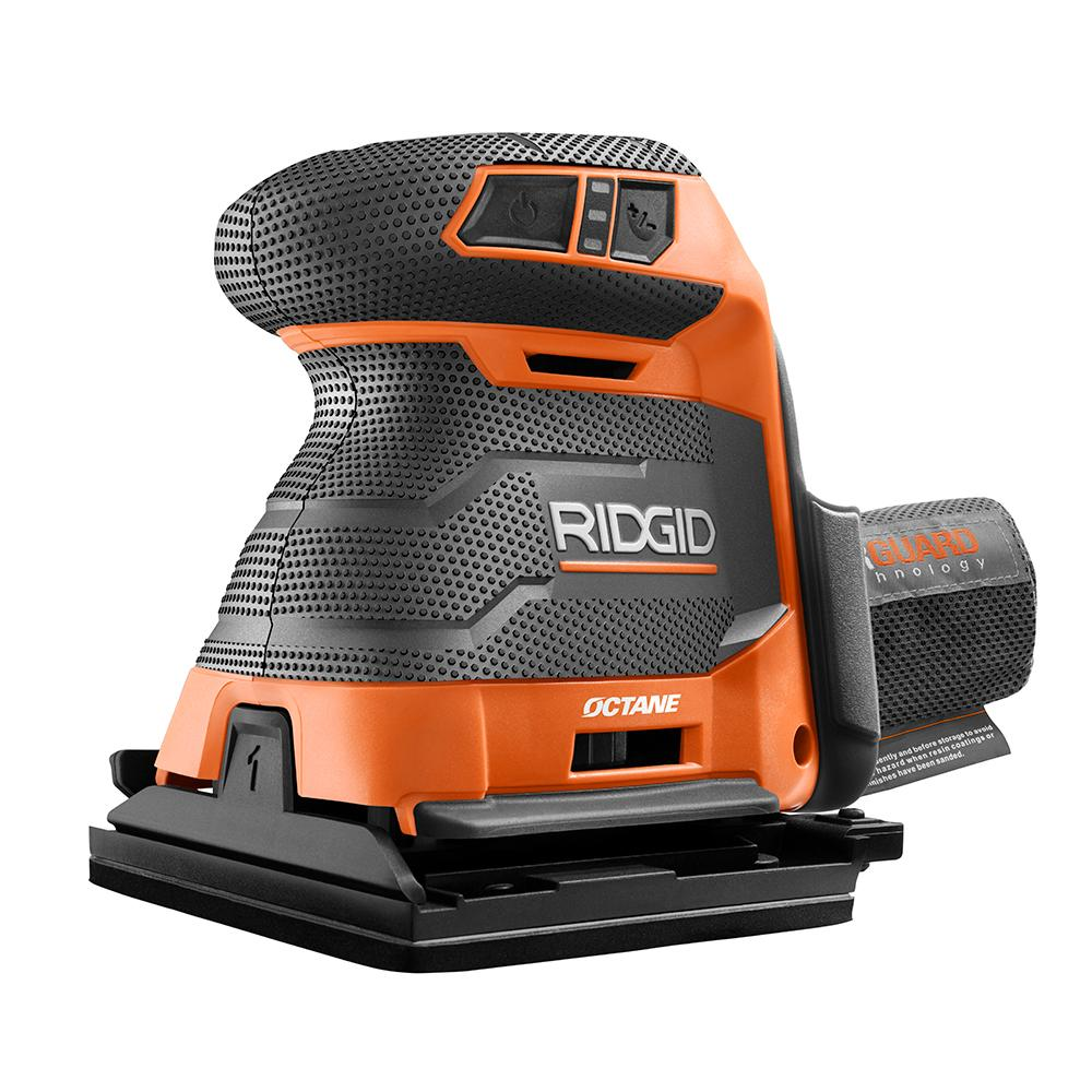 RIDGID OCTANE 18 Volt Brushless 3-Speed 1/4 Sheet Sander