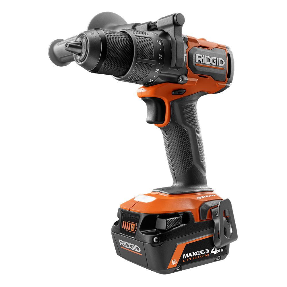 RIDGID 18 Volt Brushless 1/2 In. Hammer Drill/Driver Kit