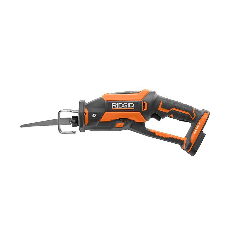RIDGID OCTANE 18 Volt Brushless One Handed Reciprocating Saw