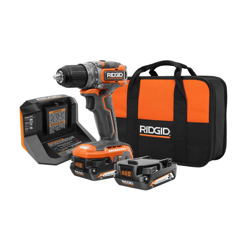 RIDGID 18 Volt Brushless SubCompact Cordless 1/2 in. Drill Driver Kit