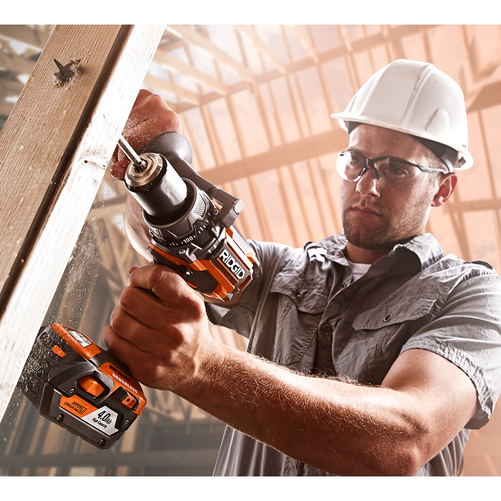 RIDGID Gen5X 18 Volt Lithium-Ion Brushless Compact Hammer Drill and 3-Speed Impact Driver Kit