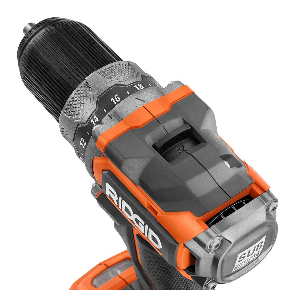 RIDGID 18 Volt Brushless SubCompact Drill Driver and Impact Driver Combo Kit