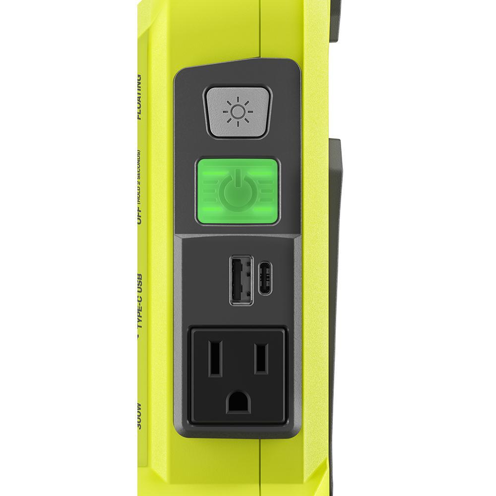 RYOBI 300-Watt Powered Inverter for 40-Volt Battery