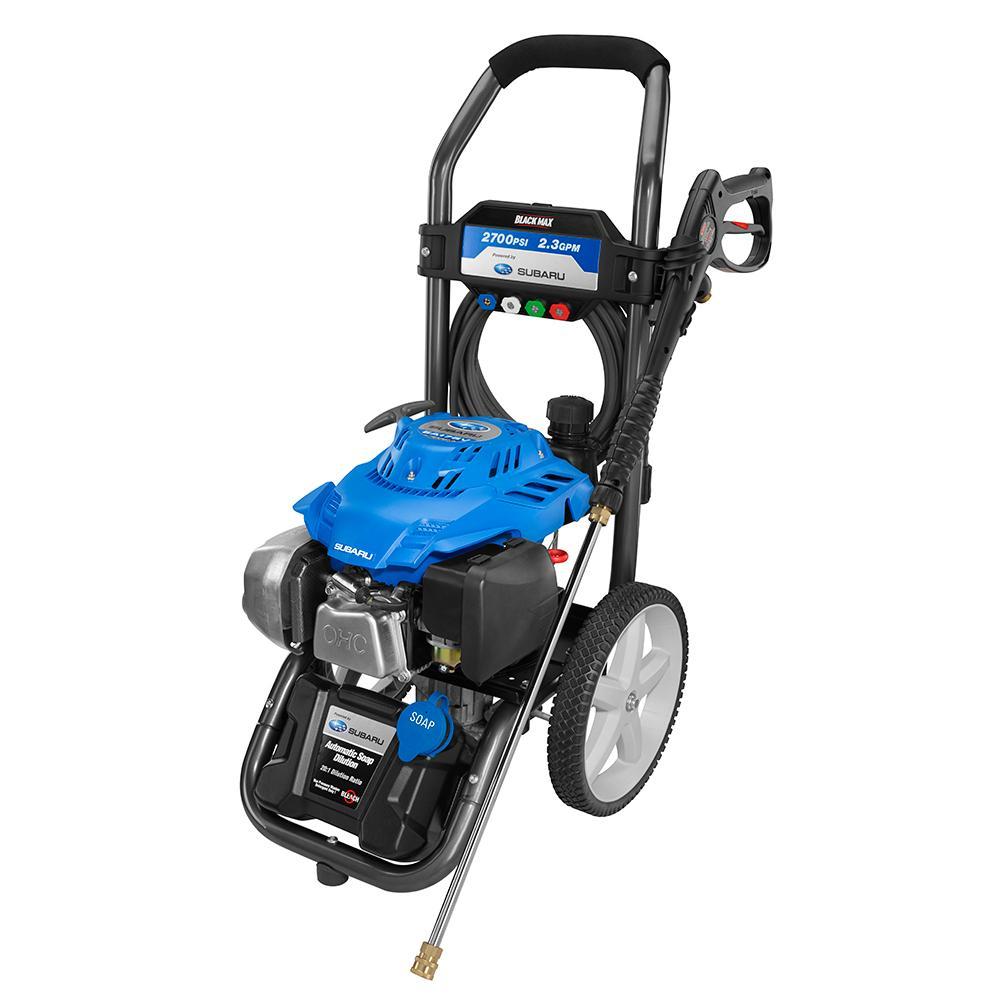 BLACK MAX 2700 PSI Gas 2.3 GPM Subaru Motor Pressure Washer