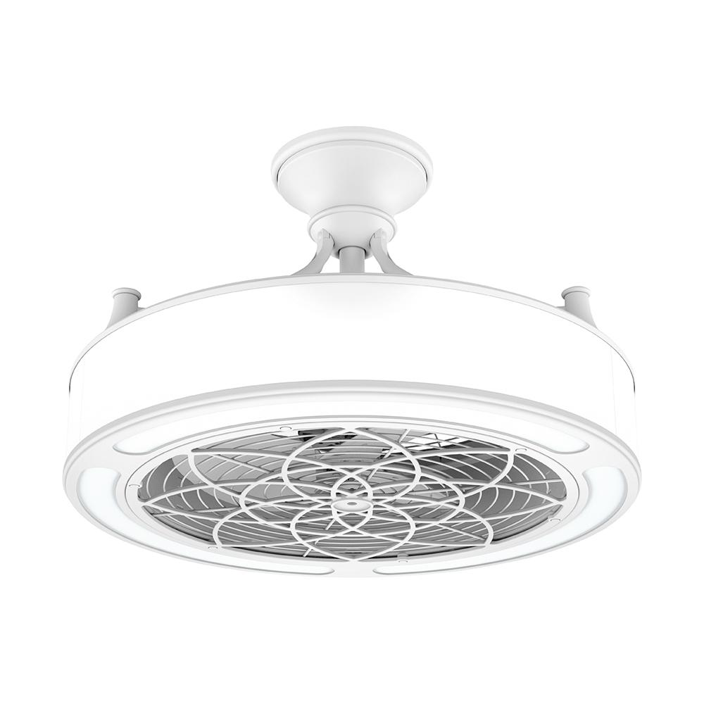 STILE Anderson 22 In. LED Indoor/Outdoor White Ceiling Fan with Remote Control