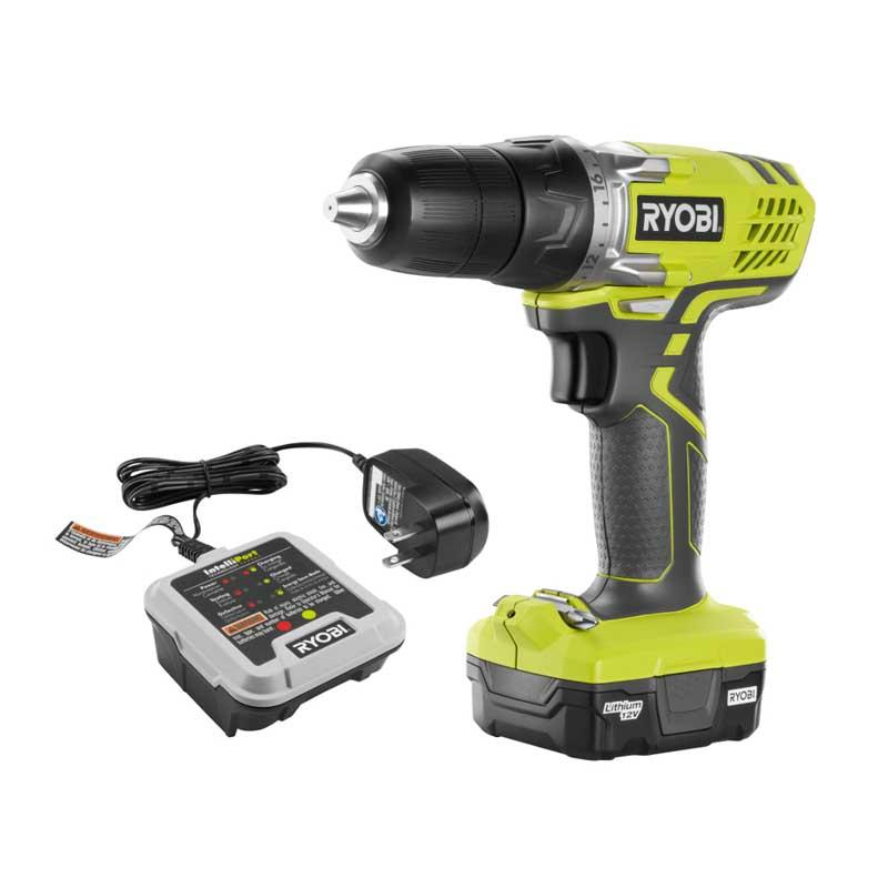 RYOBI 12 Volt Lithium-Ion 3/8 In. Cordless Drill/Driver Kit