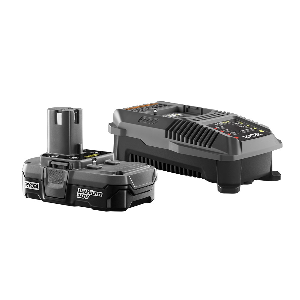 RYOBI ONE+ 18 Volt Lithium-Ion Battery with Charger