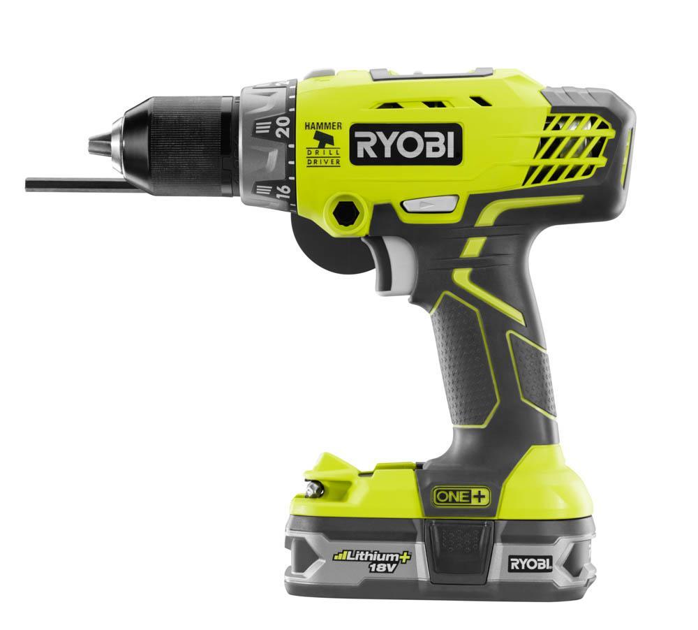 RYOBI ONE+ 18 Volt Hammer Drill Kit