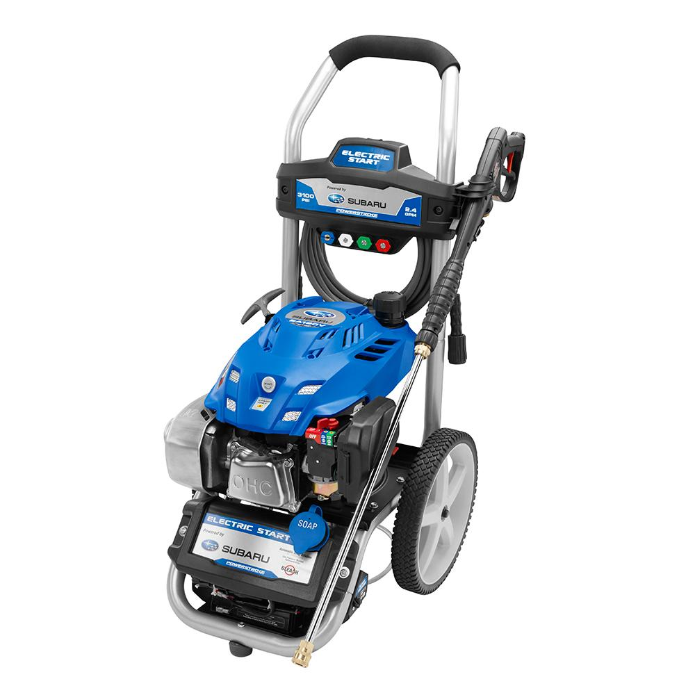POWERSTROKE 3100 PSI Gas 2.4 GPM Subaru Motor Pressure Washer with Electric Start