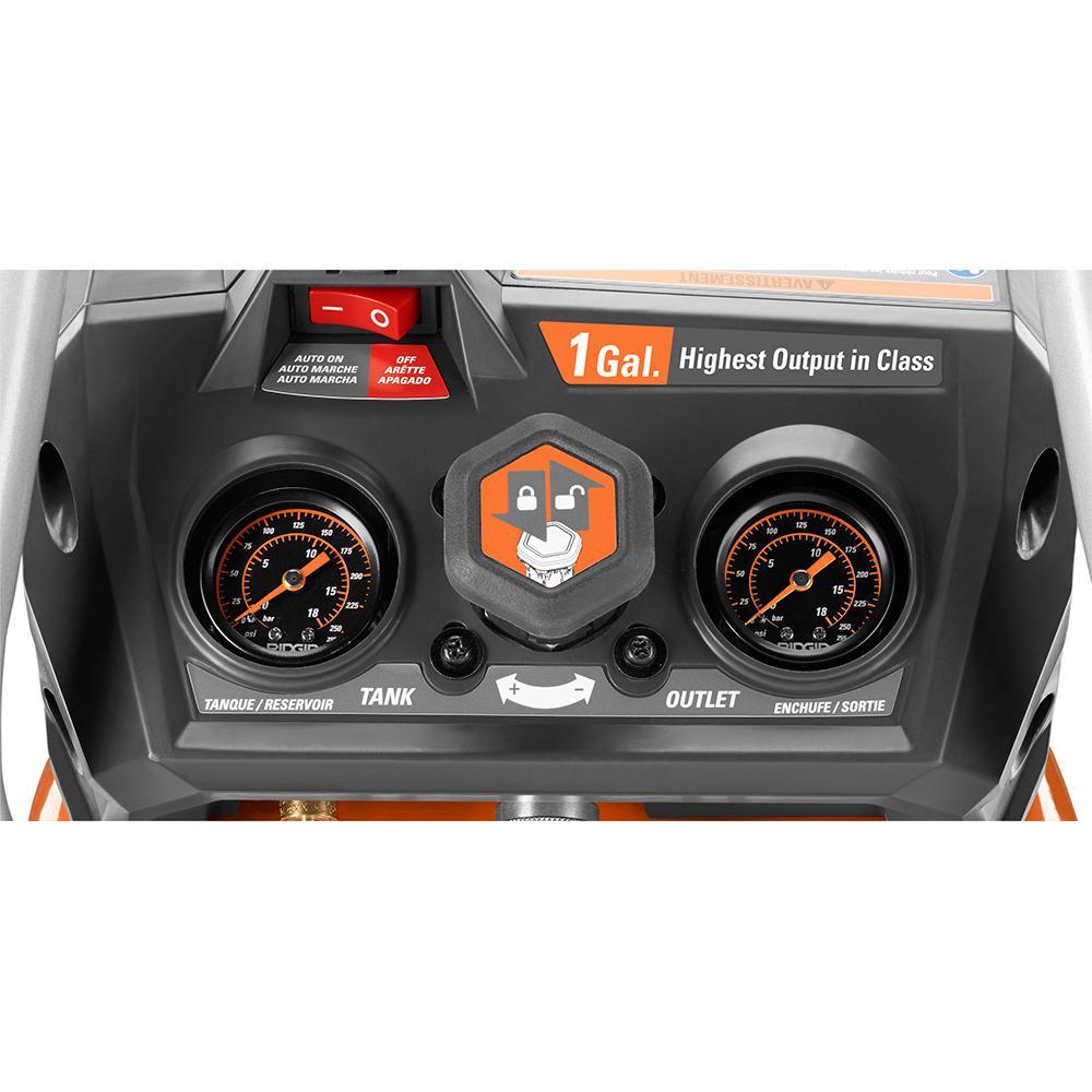 RIDGID 18 Volt Cordless Brushless 1 Gallon Portable Air Compressor