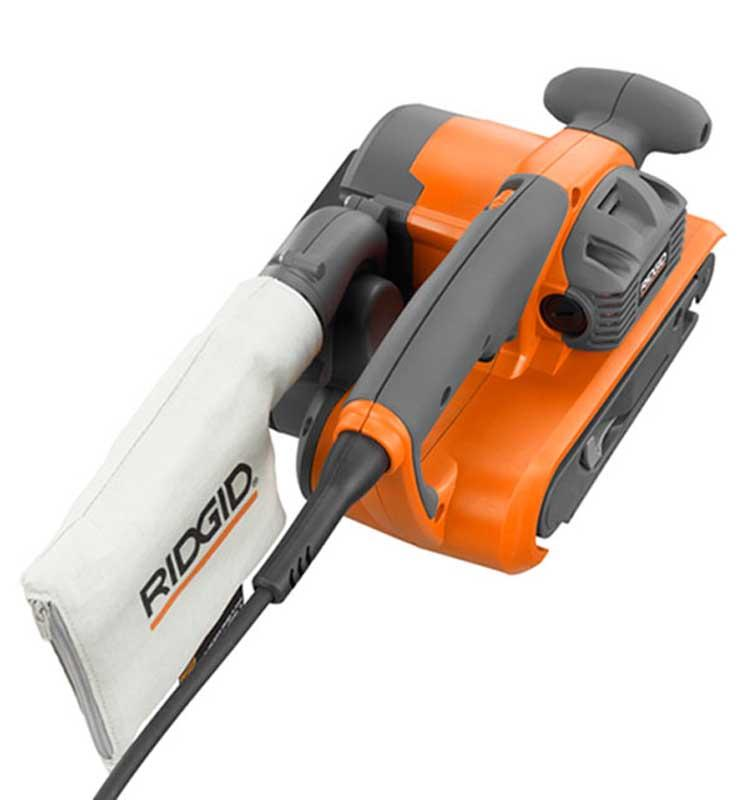 RIDGID 6.5 Amp 3 In. X 18 In. Electric Heavy Duty Variable Speed Belt Sander