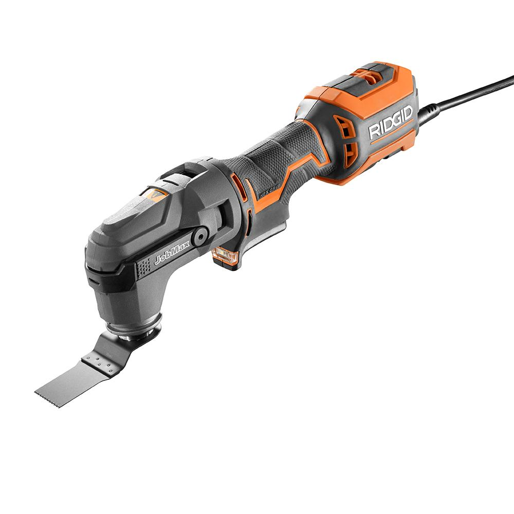 RIDGID JobMax 4 Amp Electric Multi-Tool with Tool-Free Head