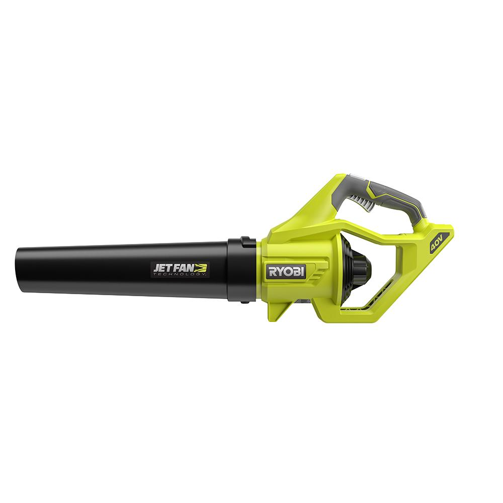 RYOBI 40 Volt Lithium-Ion 500 CFM Variable Speed Jet Fan Leaf Blower Kit
