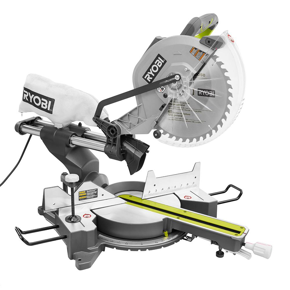 RYOBI 15 Amp 12 In. Sliding Miter Saw With Laser