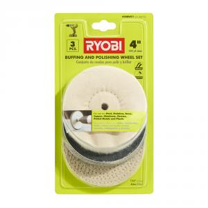 RYOBI 4 In. Buffing Wheel 3 Piece Set
