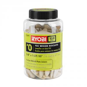 RYOBI #0 Wood Biscuits 150 Piece Set