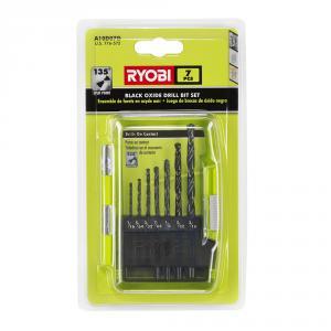 RYOBI Black Oxide 7 Piece Drill Bit Set