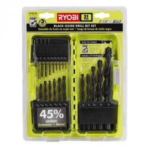 RYOBI Black Oxide 21 Piece Drill Bit Set
