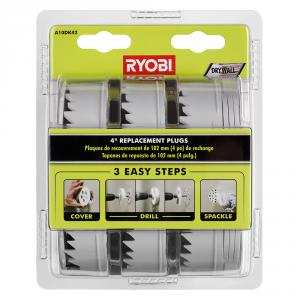 RYOBI 4 In. Replacement Plugs for Drywall Repair Kit