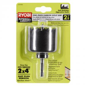 RYOBI SpeedLoad+ 2-1/8  In. Carbon Hole Saw