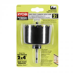 RYOBI 2-1/2 In. Carbon Hole Saw