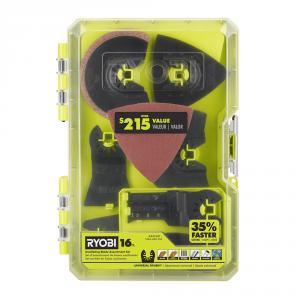 RYOBI 16 Piece Oscillating Multi-Tool Blade Accessory Set